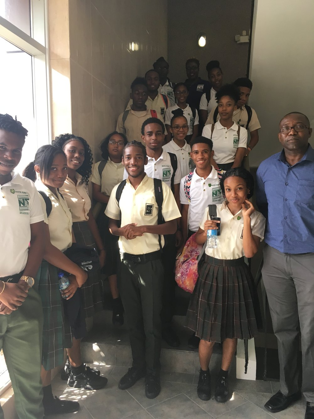 Visitors from San Juan North Secondary School