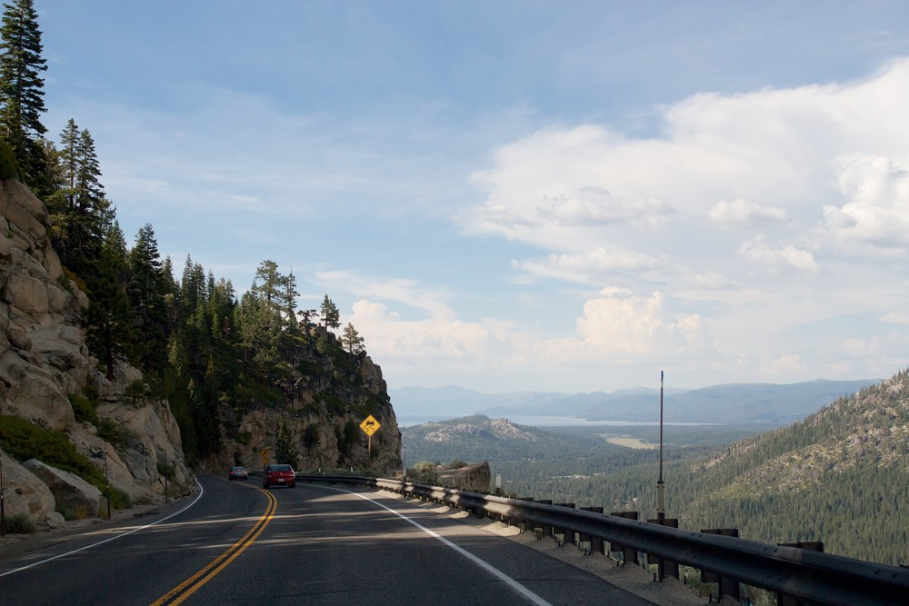 View from US-50 entering Lake Tahoe