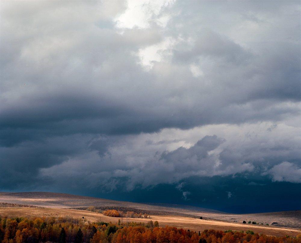 Oncoming storm near Bridgeport CA, 2015. 120 Kodak Ektar with Pentax 6x7 + 135mm f/4.