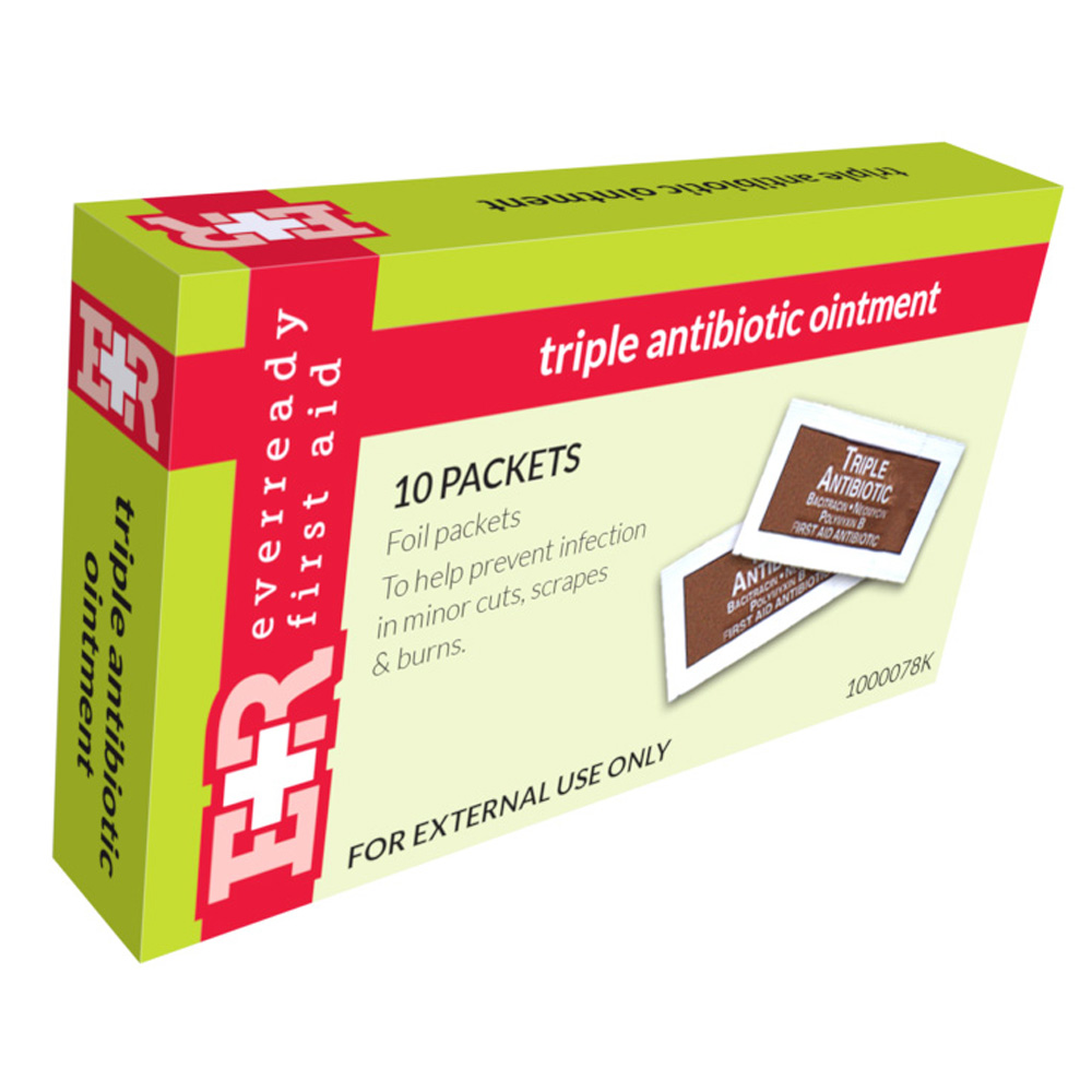 Triple Antibiotic Ointment Packets, In Kit Unit Box, 10'S