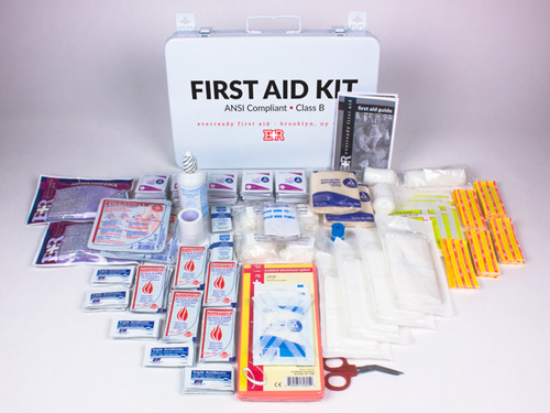 13440a04ef Basic ANSI First Aid Kit, Class B, Metal Case — EverReady First Aid