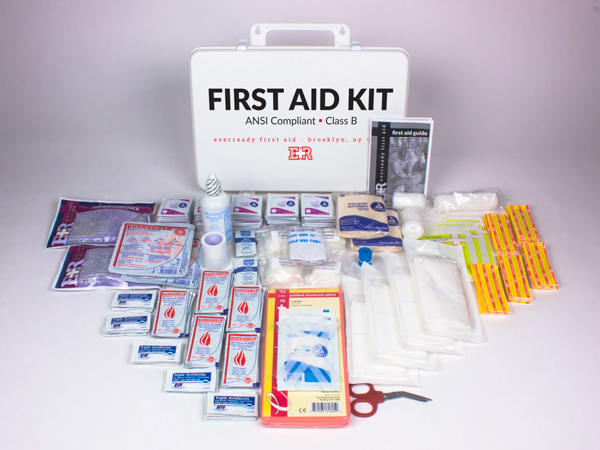 Basic ANSI First Aid Kit, Class B, Plastic Case — EverReady