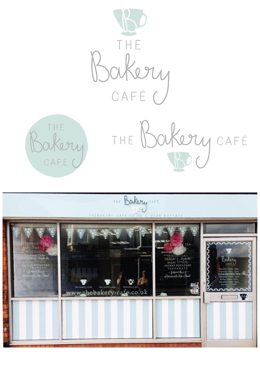 The Bakery Cafe - Logo Design, Branding and Shop Front Design. Inc. vinyl designs.