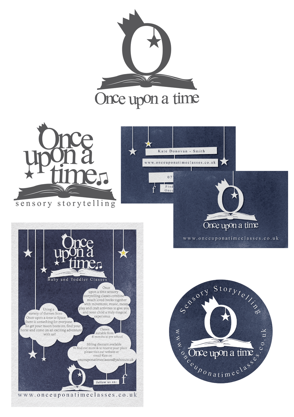Once Upon A Time - Nottingham Logo Design and Full Branding.