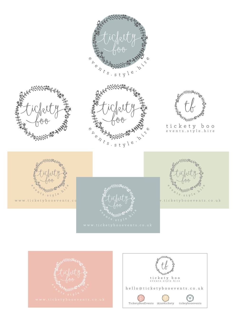 Tickety Boo Events Logo Design and Business Card Design
