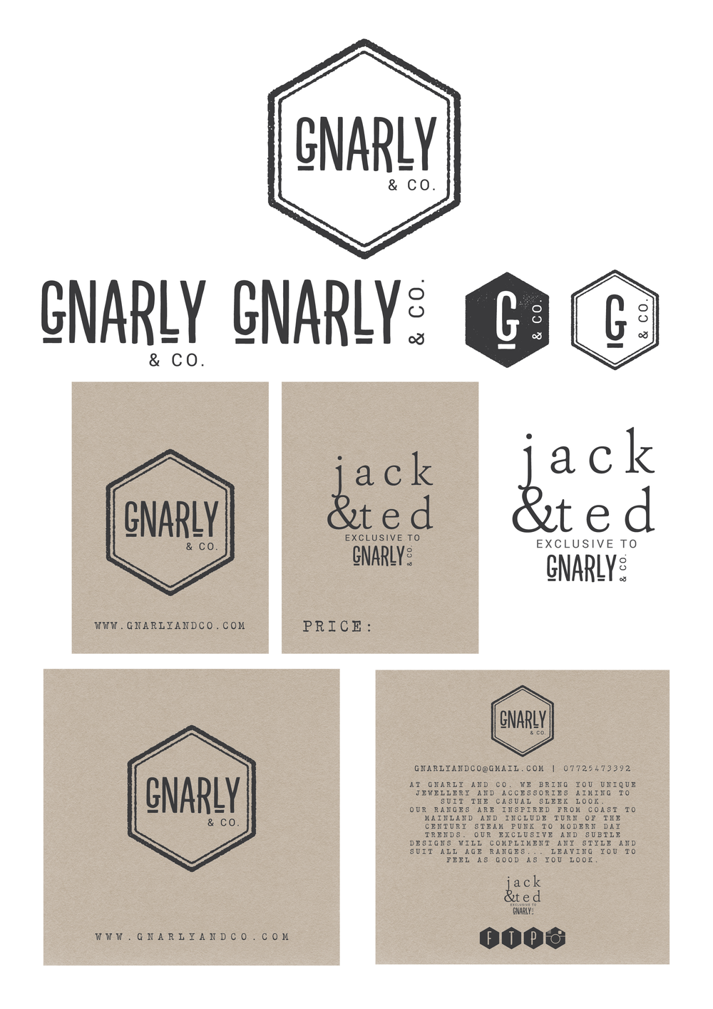 Gnarly and Co Logo Design and Branding by Miss Sammie Designs