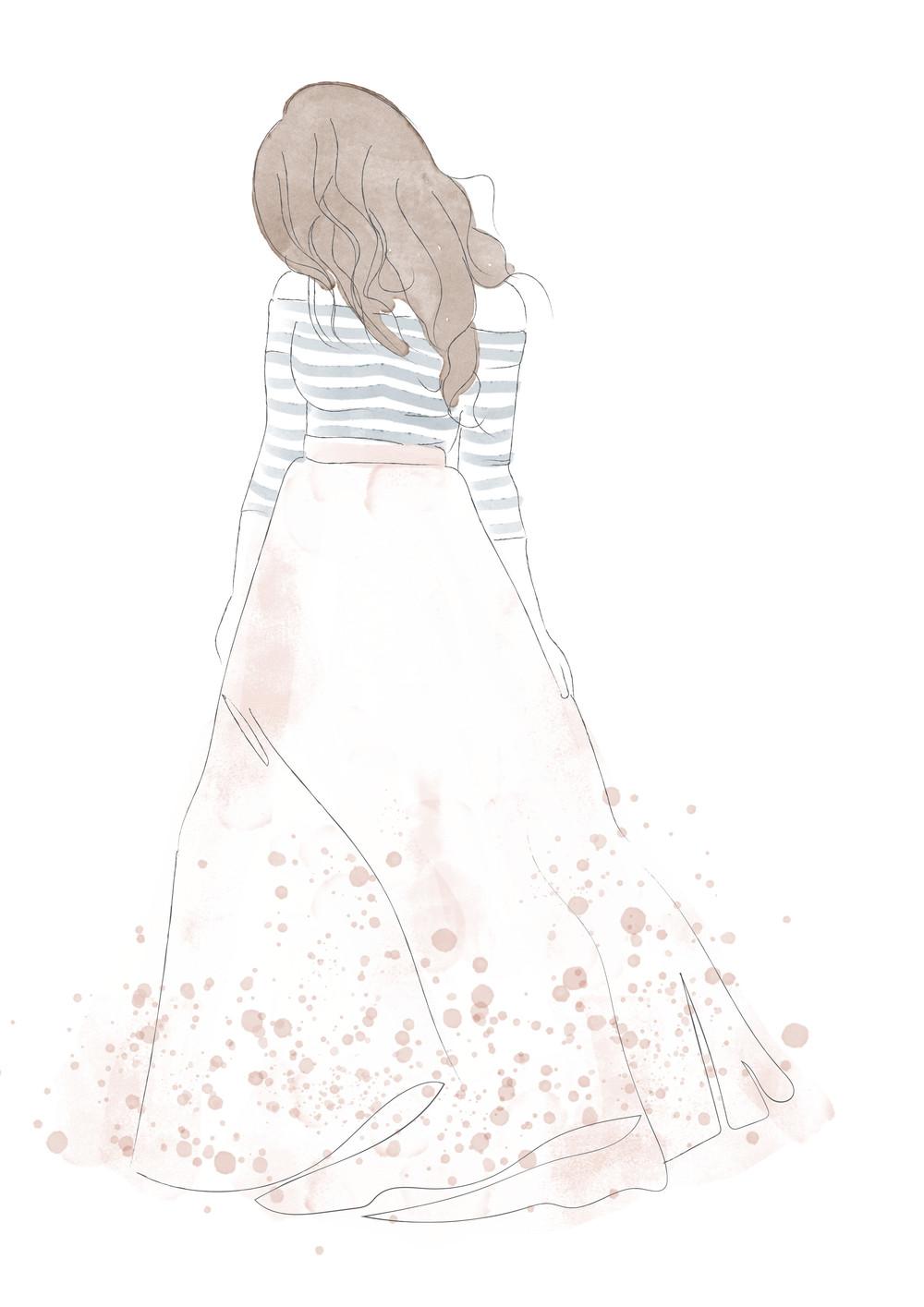 Julia Anne fashion illustrations by Miss Sammie Designs