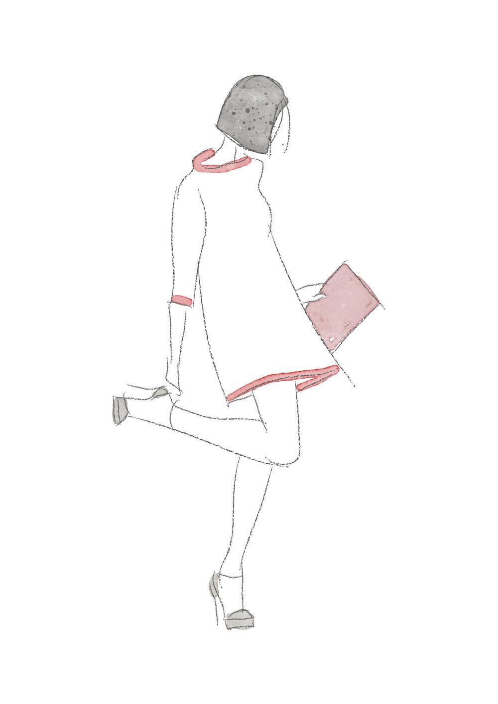 Julia Anne Style fashion illustration by Miss Sammie Designs