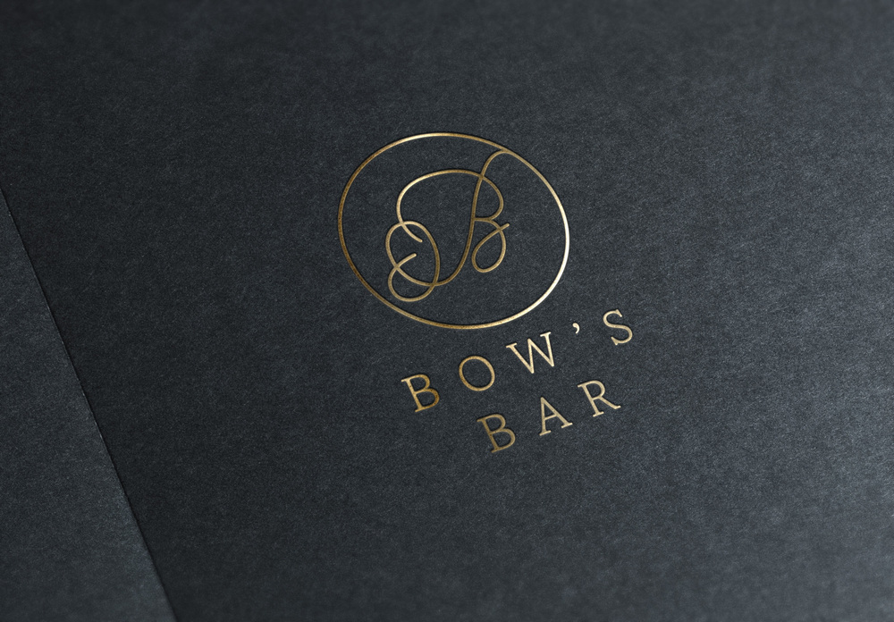 Bow's Bar Matlock, logo design by Miss Sammie Designs