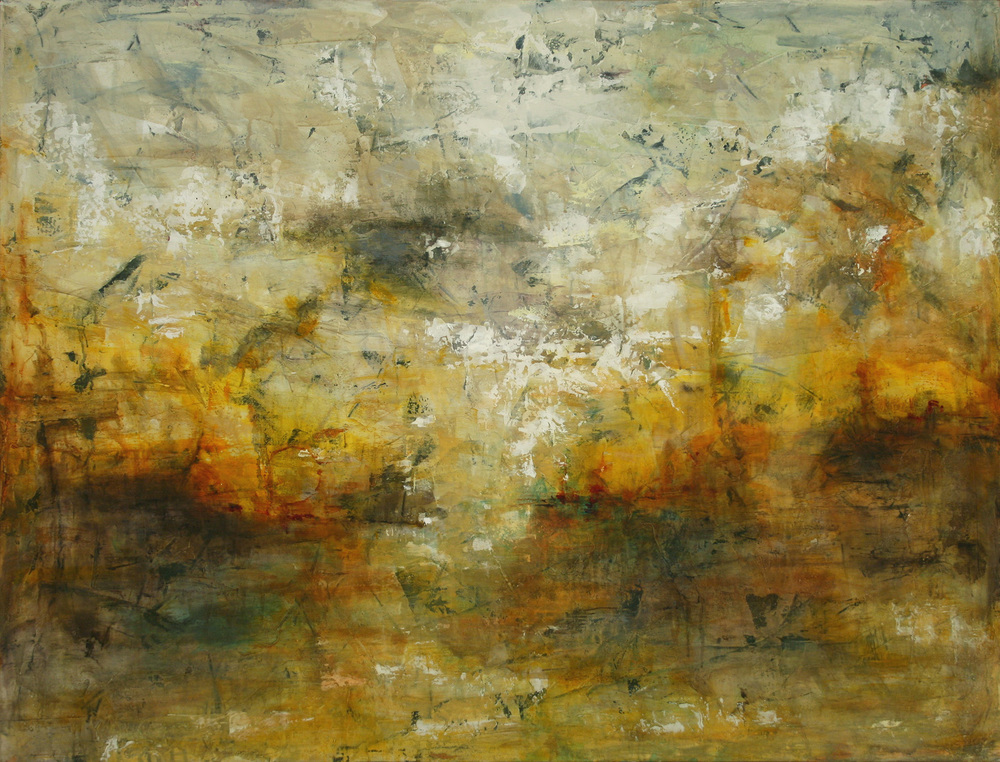 "Morning After the Battle  Oil and Acrylic on Canvas 42""x32"", 2011 Private collection"