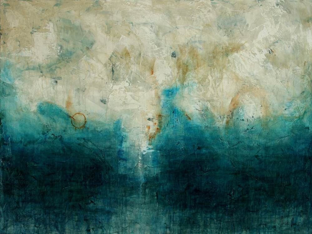 "Meeting of Oceans  52""x39"", 2009 Oil and Acrylics on Canvas"