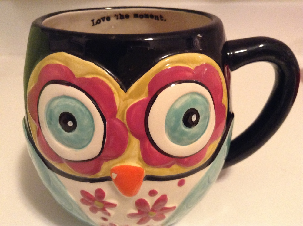 Listen to the owl mug and love the moment