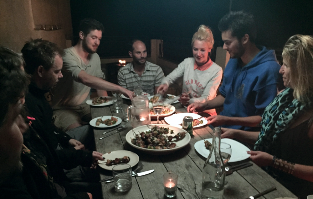 Barbecue night with ex-lawyer Sally Clarke, and former Atlassian (Hipchat) developer Dick Wiggers