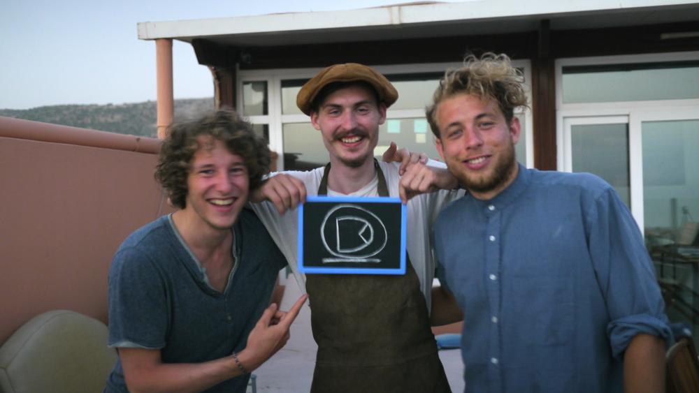 Jonathan Doornenbal,Florian Wenzel and Robin Balser at The Blue House