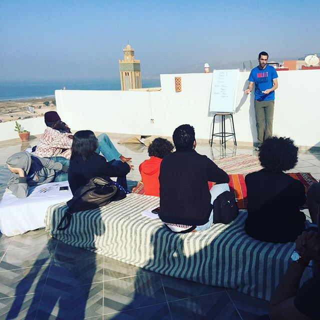 @numa.co Casablanca and Eirnée4Impact workshopping #startups #accelerator #retreats #Morocco #tamraght #taghazout