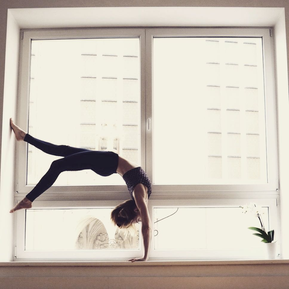 our yoga room (100+ sqm) has huge, bright windows