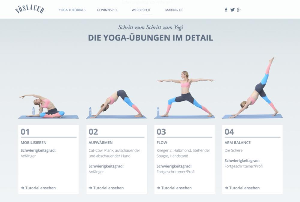 Vöslauer Yoga-Kampagne (2016)