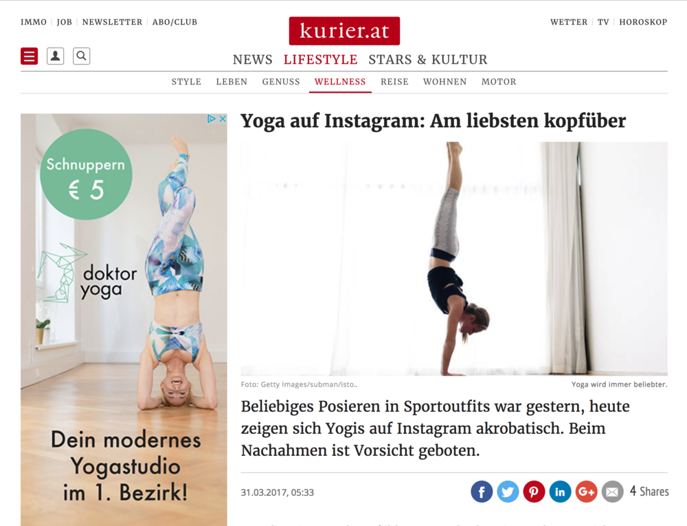 Kurier (02/2017 - inkl. unserer Adwords-Werbung, zufällig)