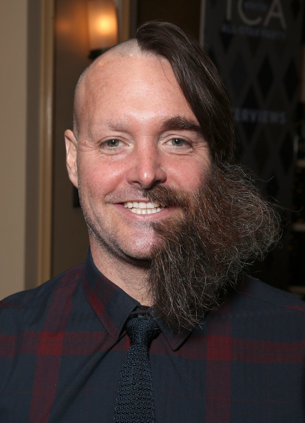 Will Forte half shaved front