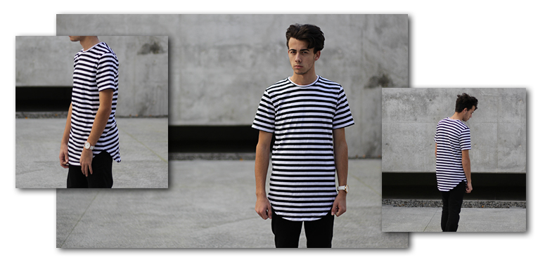 Plus 2 Clothing striped tall tee