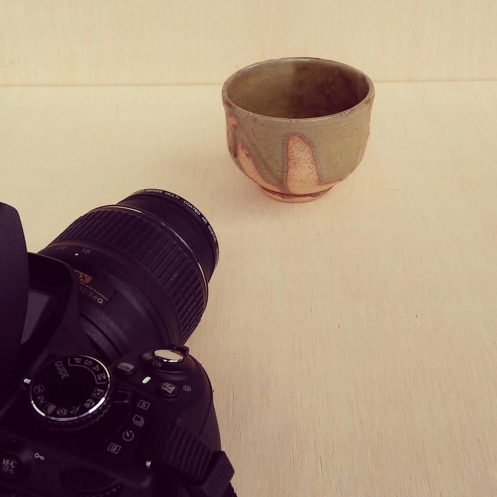 Shooting photos for the store.