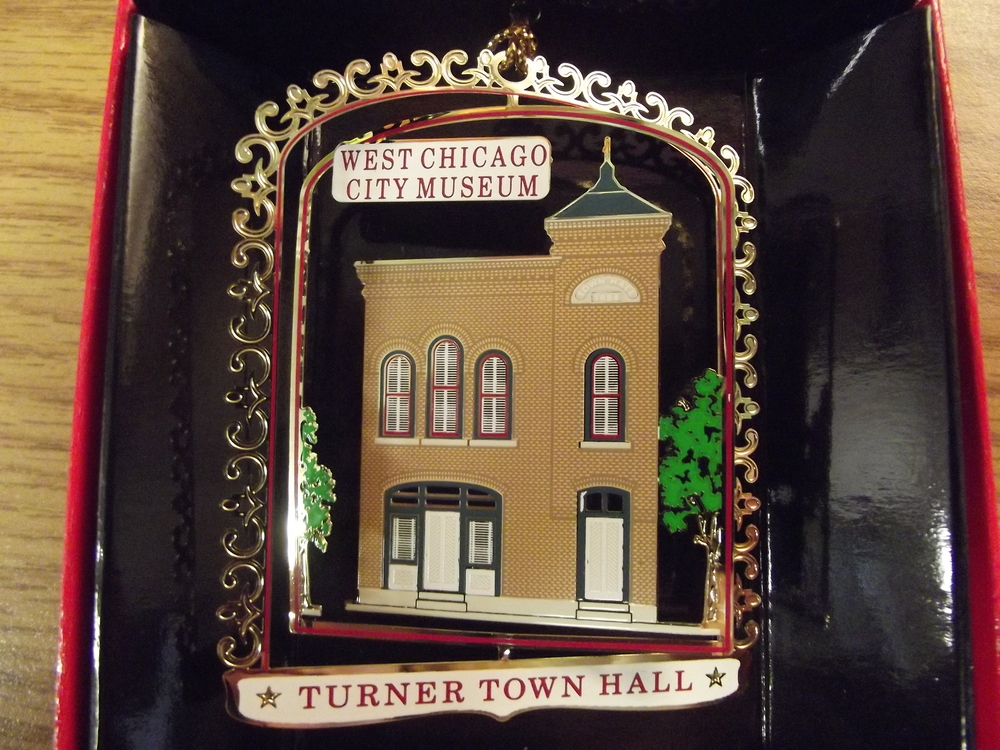 2014- Turner Town Hall ( Reissue )   The Town of Turner (West Chicago's predecessor) built this Italianate style Town Hall in 1884.  It served for 92 years as the community's governmental center.  As the first home of local police and fire departments and the public library, the hall also hosted bazaars, art exhibits and monthly dances.  In 1975 the building because the home of the West Chicago City Museum.  It was designated a National Register site in 1991, due to its historical value as an early political and cultural center.  It continues to hold a place of importance as the repository of West Chicago's history.