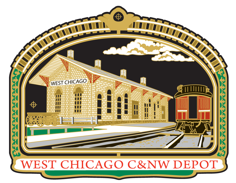 2015- Chicago NorthWestern Depot   Chicago & NorthWestern Depot    The 1869 Chicago & NorthWestern Depot was originally located at 306 Main Street. The brick building was moved to W. Washington Street in 1912 and a new depot was built in its place, which is today the Wayne & Helen Fox Community Center.  The 1869 depot was built to impress railway passengers, with stylish and substantial wide roof overhangs and ornate bracketing. At one time, tracks ran on both sides of the depot, which served both freight and passenger trains.