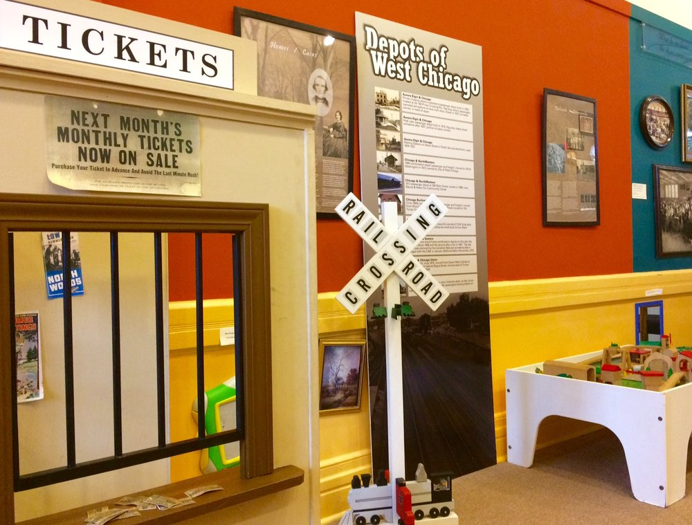 Ticket Depot and Train Table in our second-floor kids area.