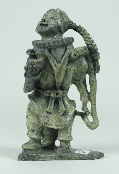 6770I  POOTOOGOOK JAW  INUIT EVE, 2014  Serpentine  H 8 x W 4 x  D 3 in