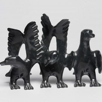 PAVINAK PETALASSIE  BIRDS, 2014  Serpentine  H3 x W4.5 x D1.5 in