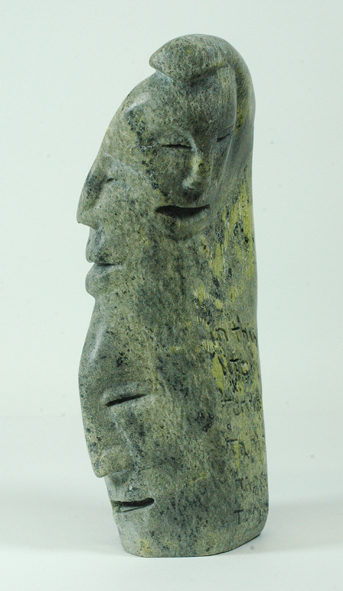 "Jutai Toonoo 7891H Happiness, 2013                     Serpentinite h 13.5""  w 5.5""  d 4.5"""