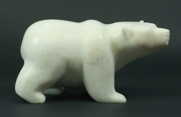 "6438J  Bear , 2015      Killiktee Killiktee ht 5"" wdth 9.5"" dpth 5"" Marble"