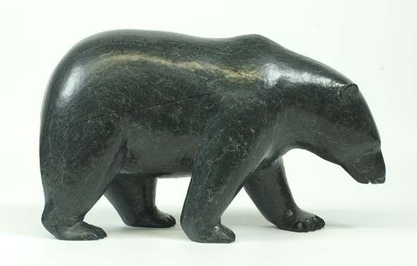 "6235I  Bear, 2015   Noah Jaw      ht 7.5""  wdth 12.5""  dpth 4"" Serpentinite"