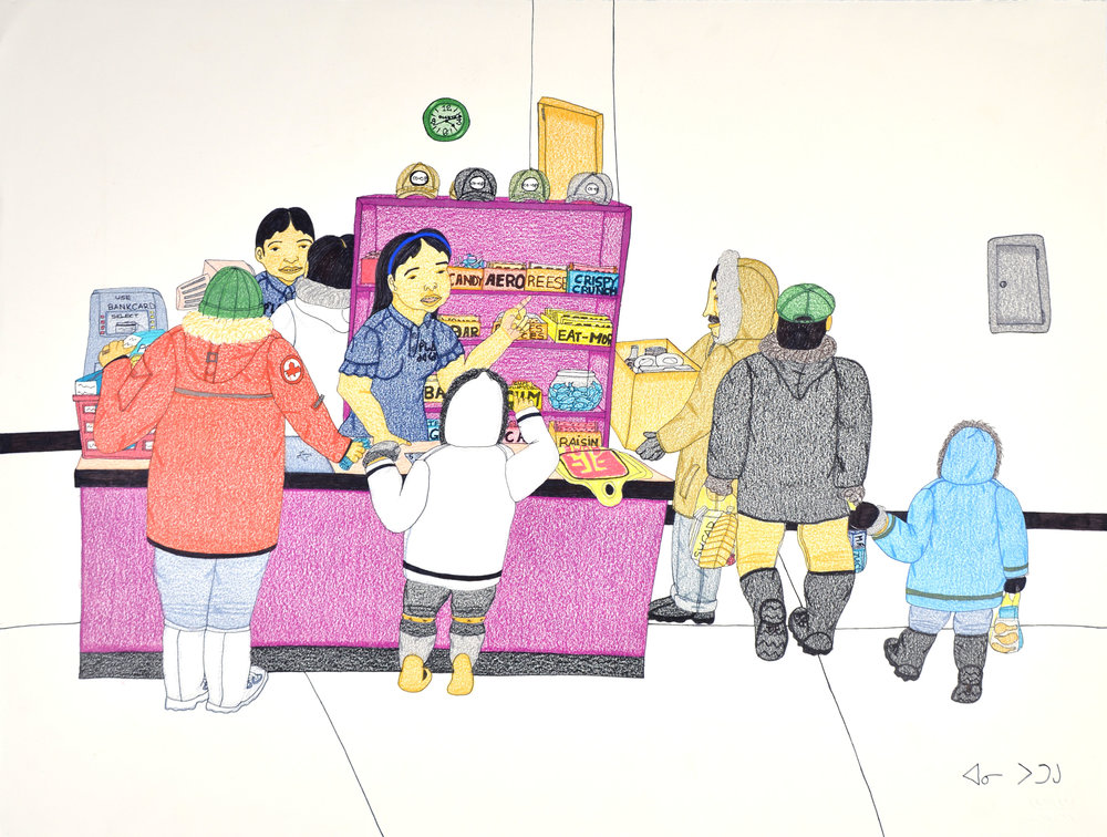 Annie Pootoogook Untitled, 2006 Coloured pencil and ink 50.8 x 66.2 cm