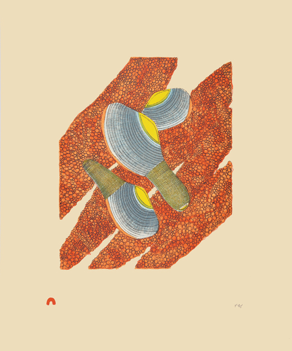 Siassie Kenneally  CLAMS AND ROE Lithograph 2014 46 x 38.5 cm $350.00 CDN Released in the 2014 collection Dorset ID#: 14-36