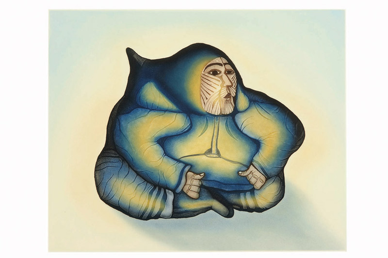 Pitaloosie Saila TATTOOED SHAMAN Etching & Aquatint   2008 74.5 x 85.5 cm $800.00 CDN Released in the 2008 collection Dorset ID#: 08-30