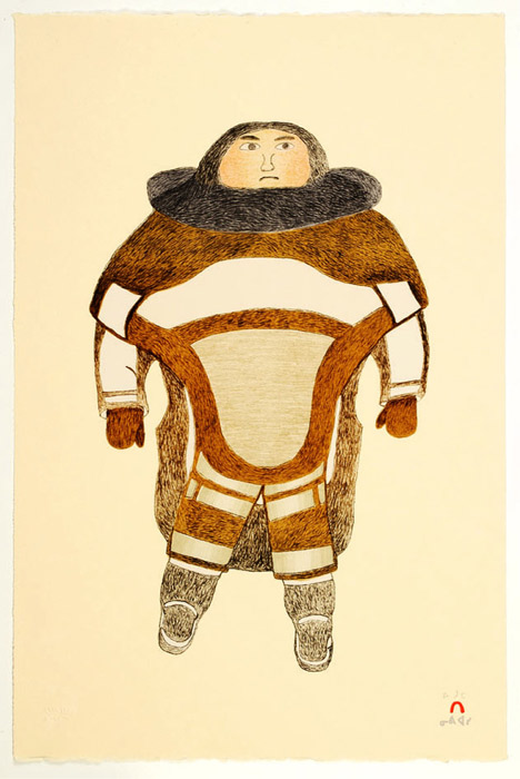 Ohotaq Mikkigak  FIRST AMAUTIK Lithograph   2002 57 x 38.3 cm $400.00 CDN Released in the 2002 collection Dorset ID#: 02-25