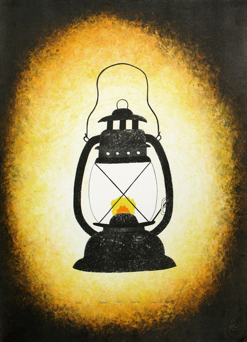 Mary Pudlat LANTERN Lithograph   1994 76.8 x 57.6 cm $300.00 CDN Released in the 1994 collection Dorset ID#: 94-23
