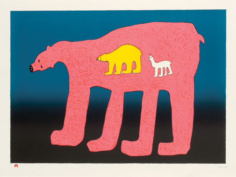 Saimaiyu Akesuk  LUMINOUS BEARS Lithograph   2013 57.5 x 76.5 cm $600.00 CDN Released in the 2013 collection Dorset ID#: 13-27