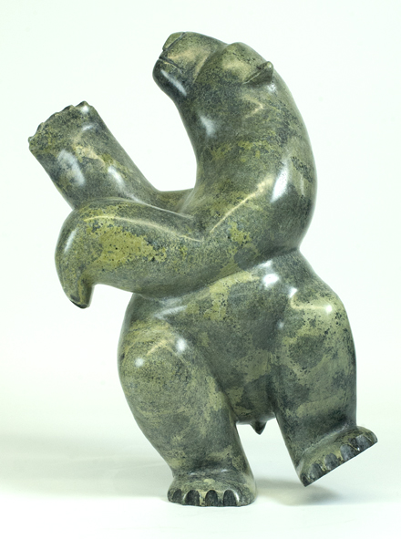 Isaaci Petaulassie    7631J Dancing Bear, 2016 Serpentinite h 14.5 x w 8.5 x d 5.5 in