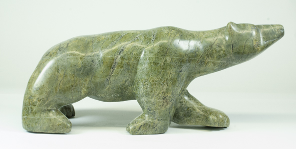 "6656L Bear, 2017 Serpentinite H9.5"" x W2.5"" x D 9"""