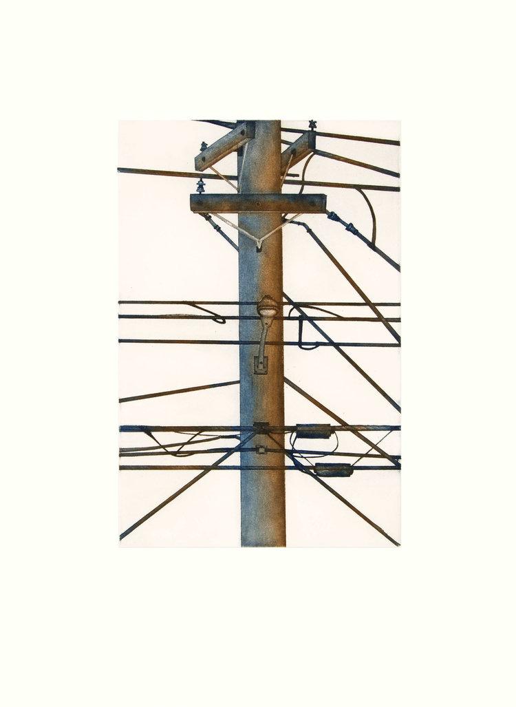 PADLOO SAMAYUALIE   Kinngait Calling   Etching & Aquatint  49.3 x 36.8 cm  $500  Dorset ID#18-27