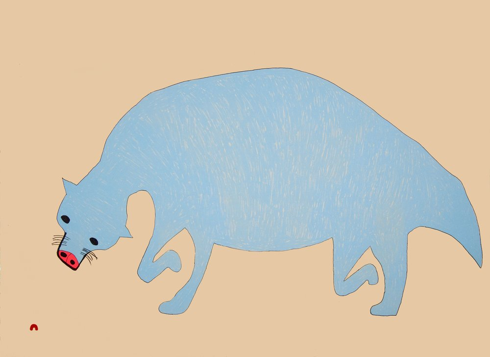SAIMAIYU AKESUK  Blue Beast  Lithograph  57 x 76.5 cm  $600  Dorset ID#18DS-02