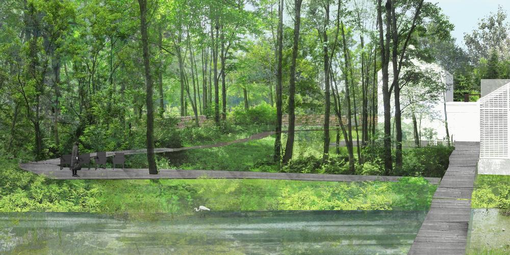 Rendering created for Susan Wisniewski Landscape, LLC