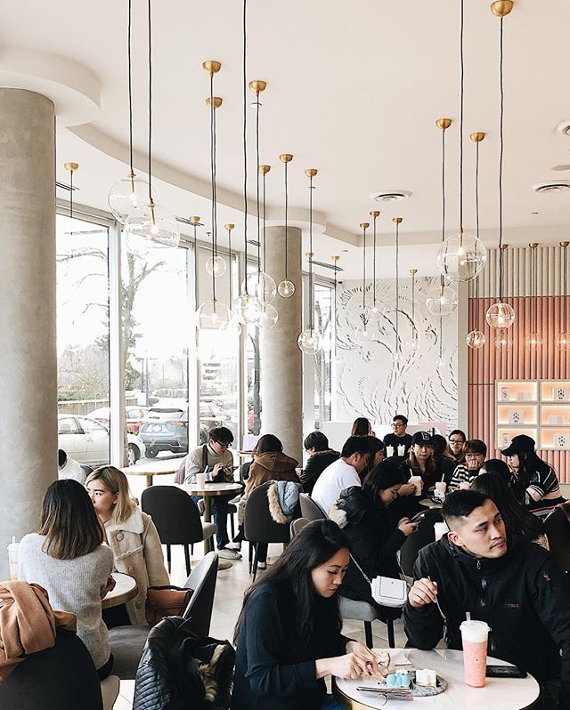 Prettiest interiors in Vancouver 🤩 @spiriteadrinks @millennialcafes
