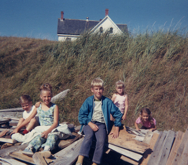 Building driftwood forts and wandering Whidbey Island circa 1968.