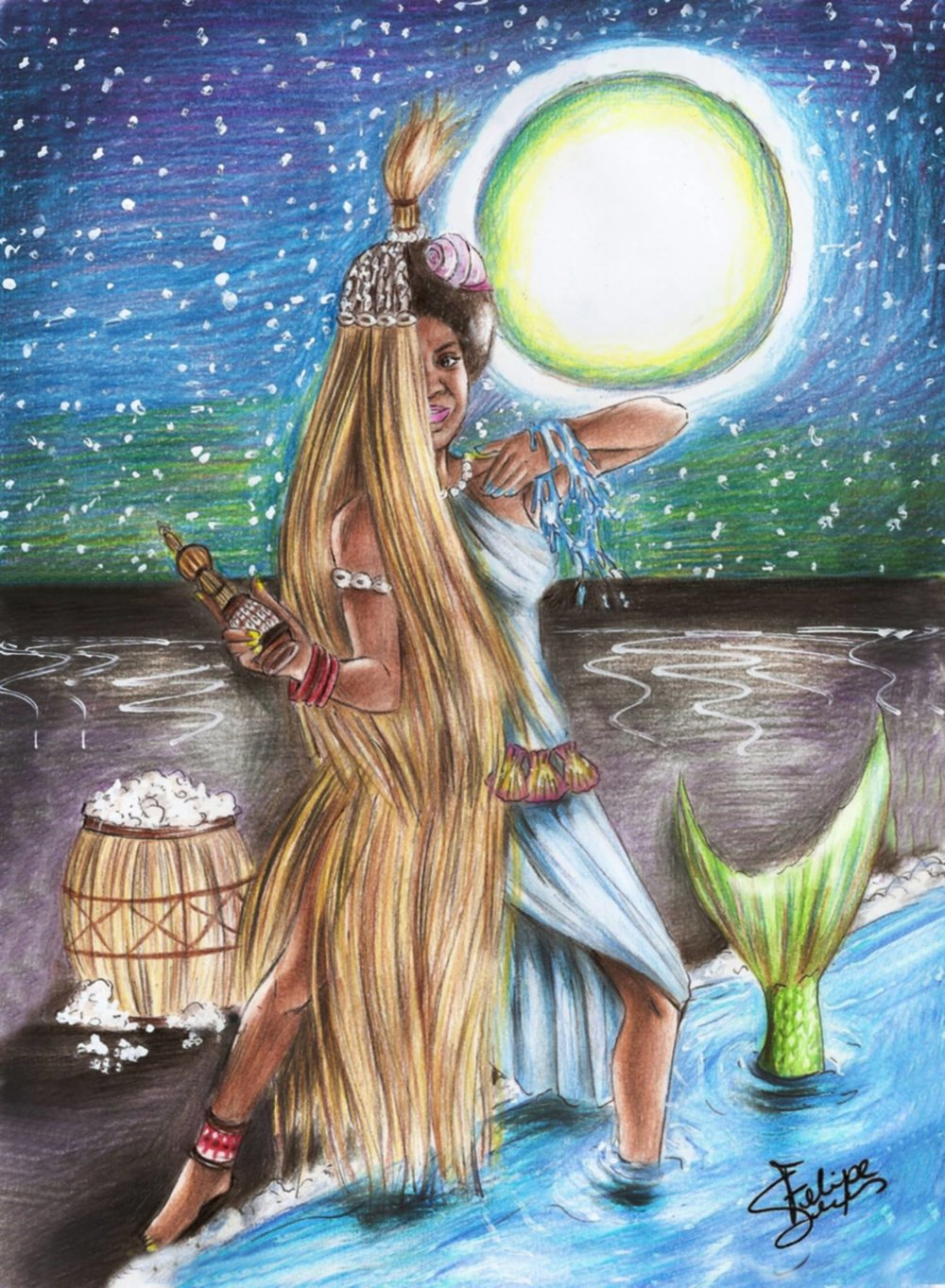 MULHERES   NEGRA  S , desenhos de Felipe Silva Lemes  Mulheres, personagens ou ideias, todas em comum: fontes de inspiração
