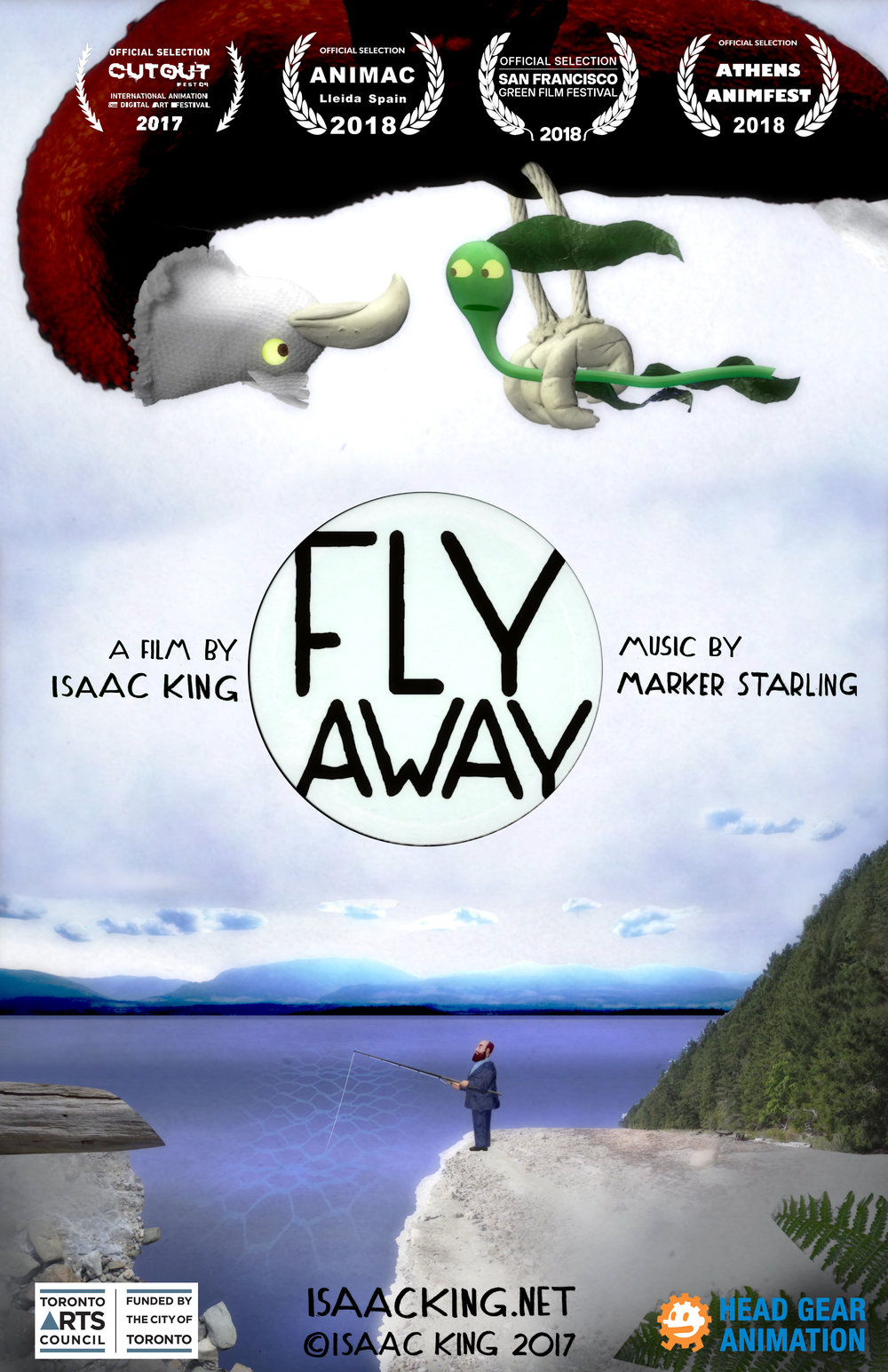 - FLY AWAY is a my latest 4-minute animated film, featuring stop-motion/collage animation and new music by Marker Starling.Anchored to the ocean floor, a lonely sea kelp yearns to fly. His dream is realized, in this crisp story about the risks of change.Screening history:CutoutFest 2017, Queretaro MexicoAnimac 2018, Lleida SpainAnimfest 2018, Athens GreeceSan Francisco Green Film Festival 2018, USAPlanet In Focus Film Festival 2018, Toronto CanadaCinemare 2018, Kiel Germany