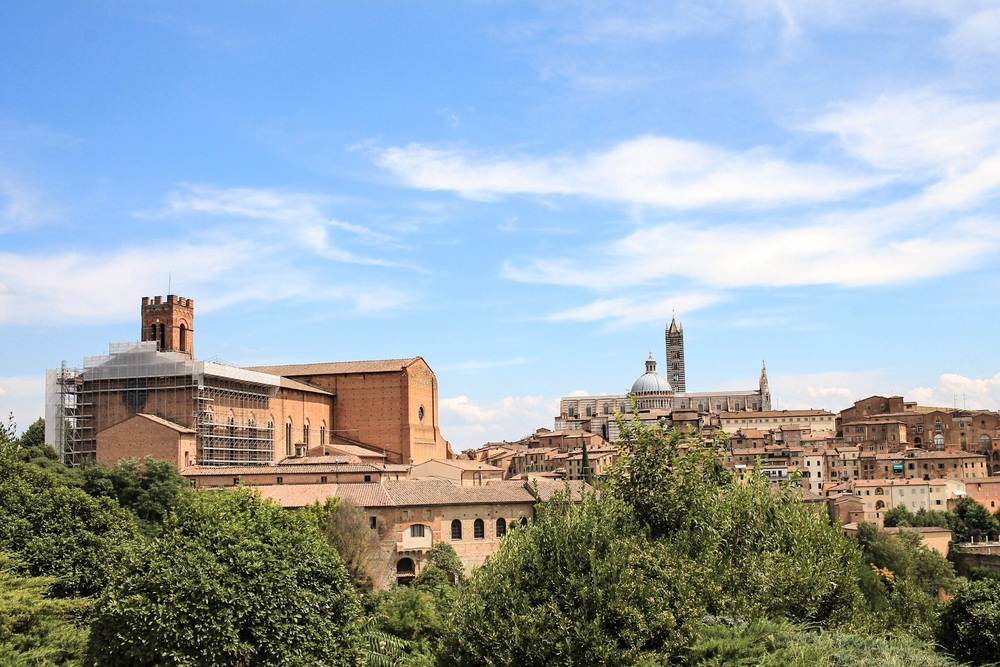View from the Top of Siena, this place is not easy to walk