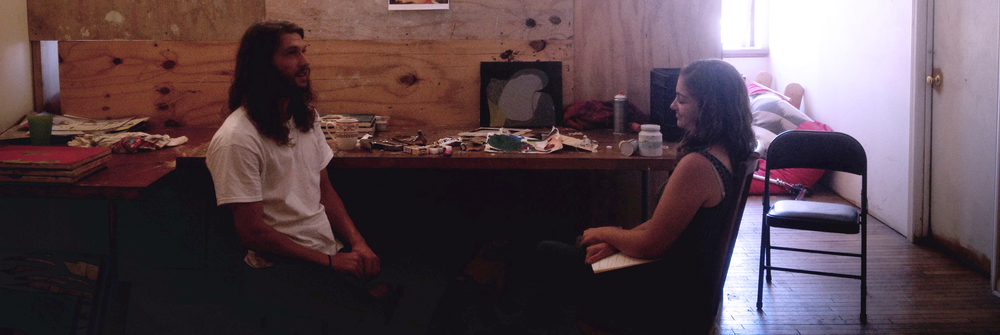 Interview with Kyle Nielsen and Kate Conlon, in his studio